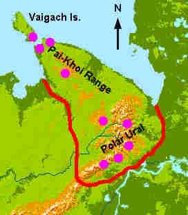 Uralgebirge Karte.Lichens Of Polar Ural